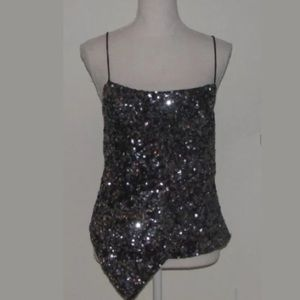 Cache Sequins Event Party Holiday Top